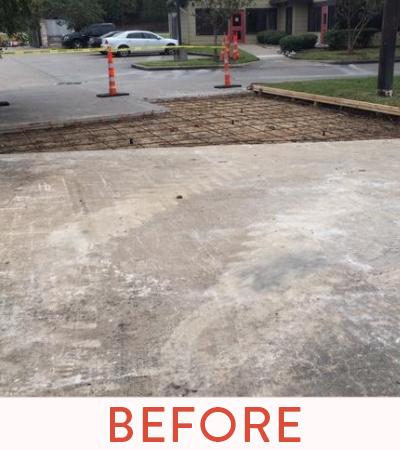 Hazardous cracks after demolition of concrete.