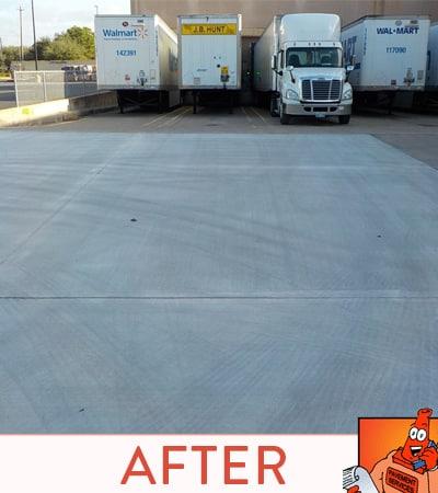 After asphalt overlay without the cracks.