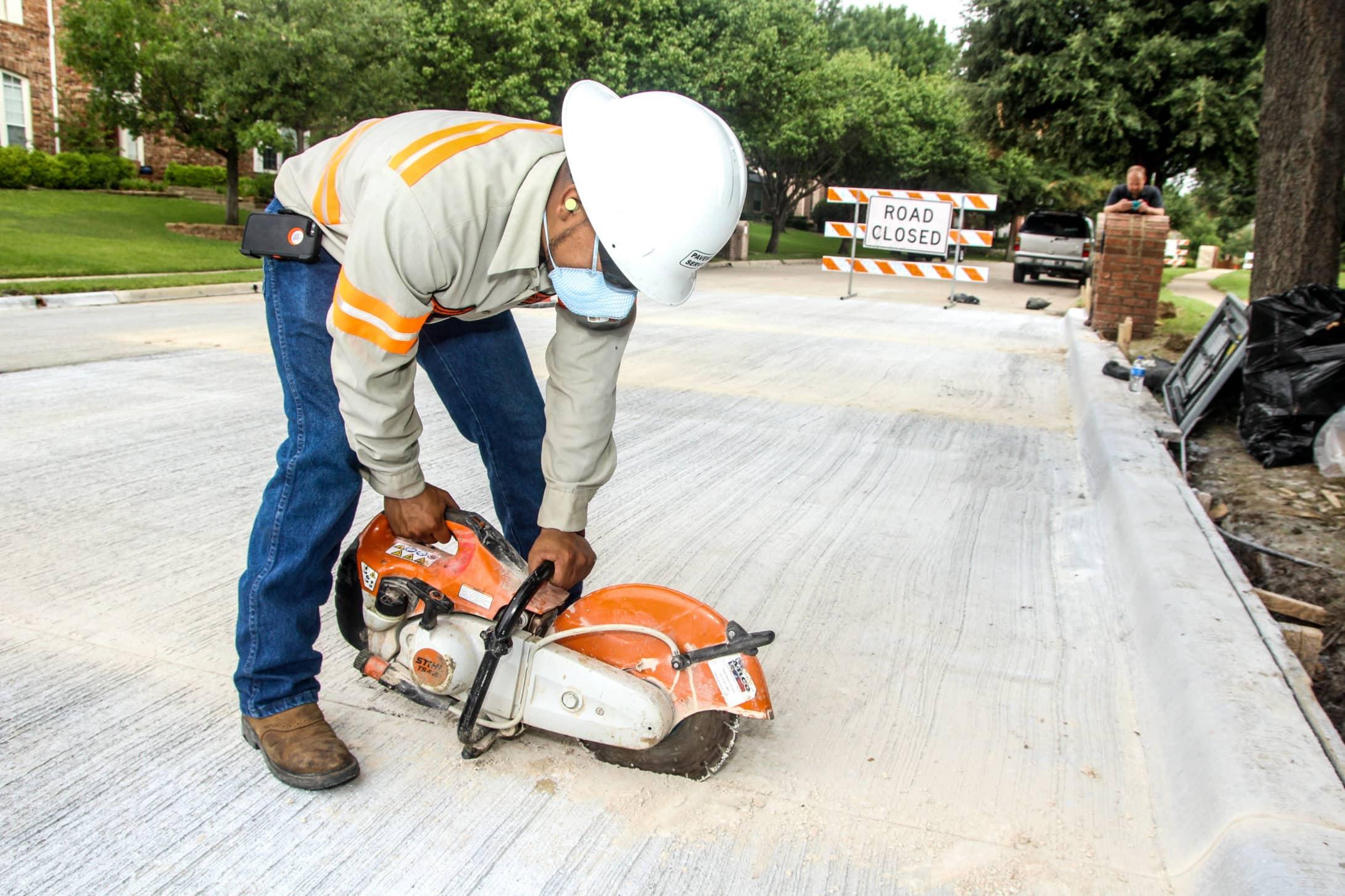New Developement Concrete Pouring Residential street Dallas Houston